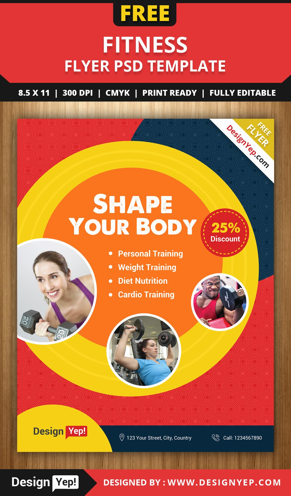 Free Fitness Flyers Templates Inspirational Free Clean Fitness Gym Flyer Psd Template Designyep