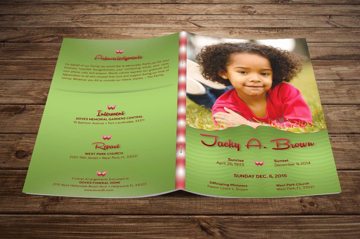 Free Funeral Program Template Photoshop Unique Child Funeral Program Template Shop