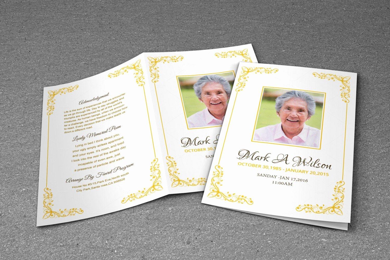 Free Funeral Program Template Photoshop Unique Printable Funeral Program Template Ms Word and Shop