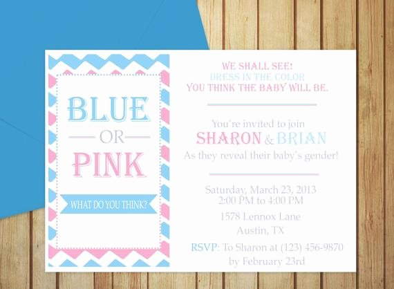 Free Gender Reveal Templates Awesome Printable Gender Reveal Invitation Editable Template