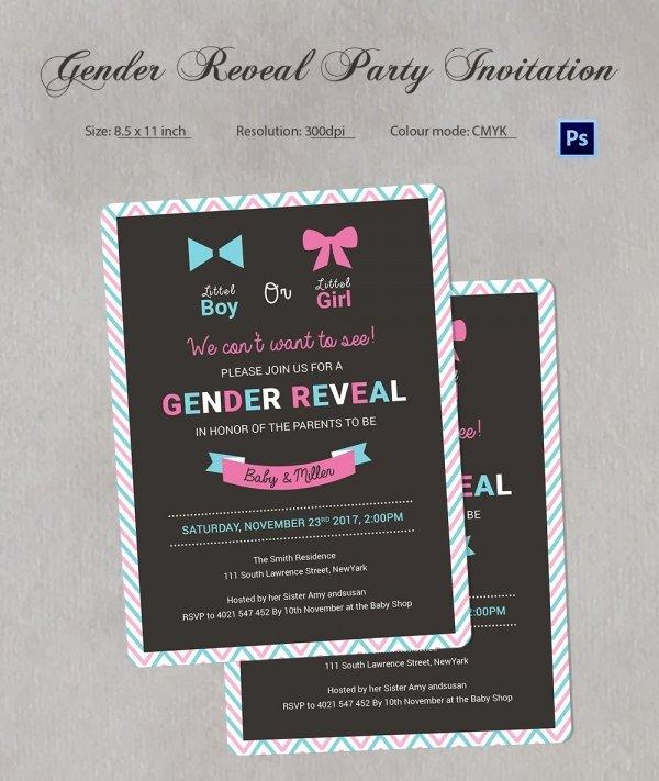 Free Gender Reveal Templates Beautiful Gender Reveal Invitation Templates