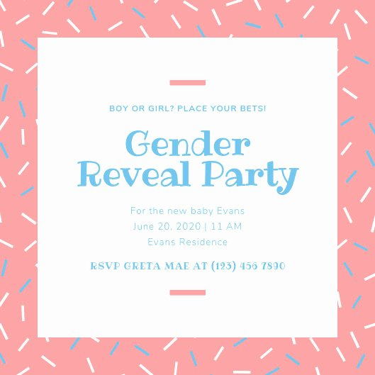 Free Gender Reveal Templates Best Of Customize 21 Gender Reveal Invitation Templates Online Canva