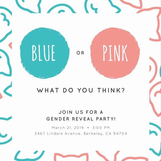 Free Gender Reveal Templates Elegant Customize 29 Gender Reveal Invitation Templates Online Canva