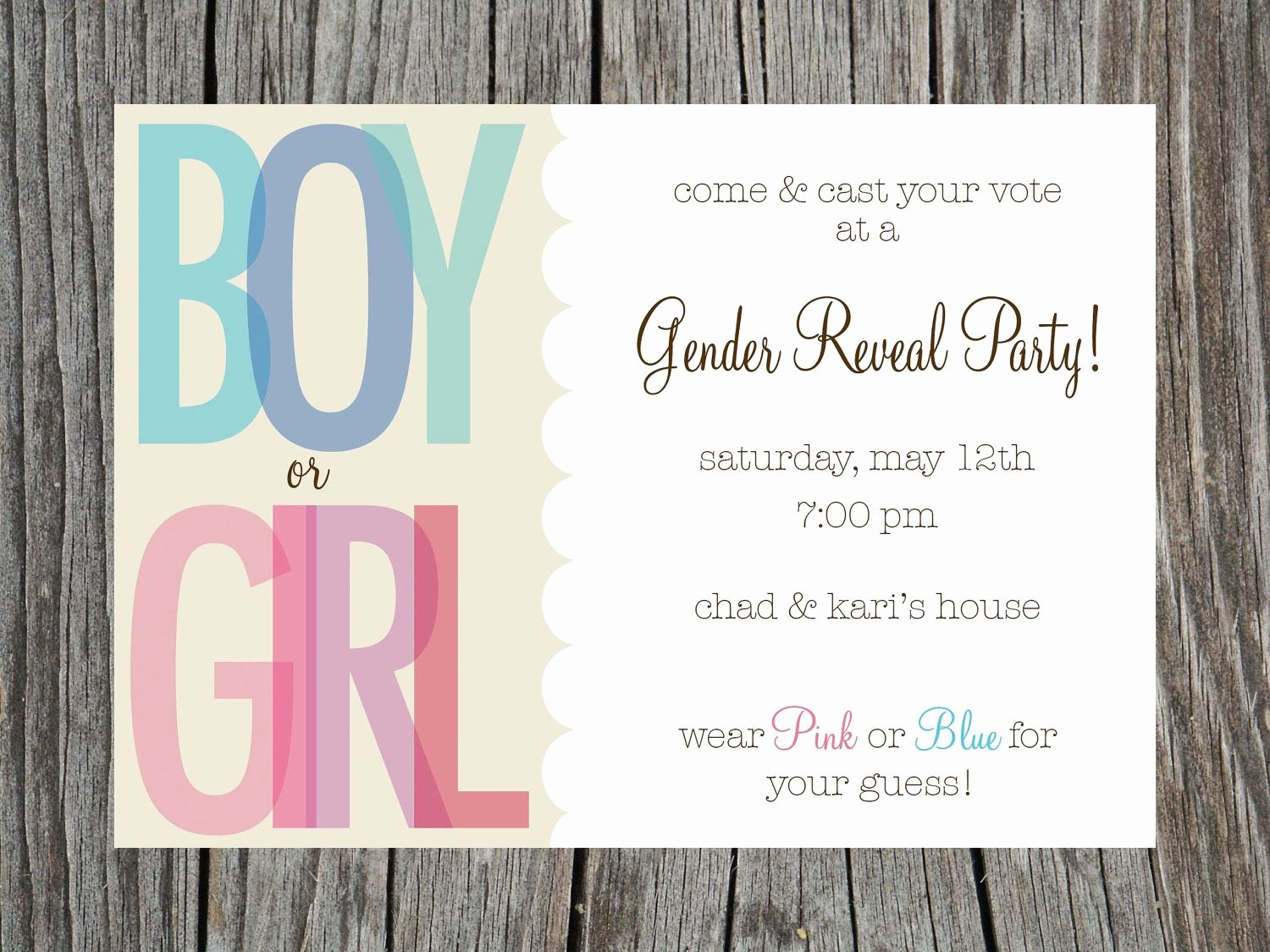 Free Gender Reveal Templates Inspirational Gender Reveal Party Invitations Free Templates Invitstiond by Own