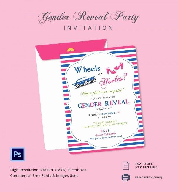 Free Gender Reveal Templates Lovely Gender Reveal Invitation Templates