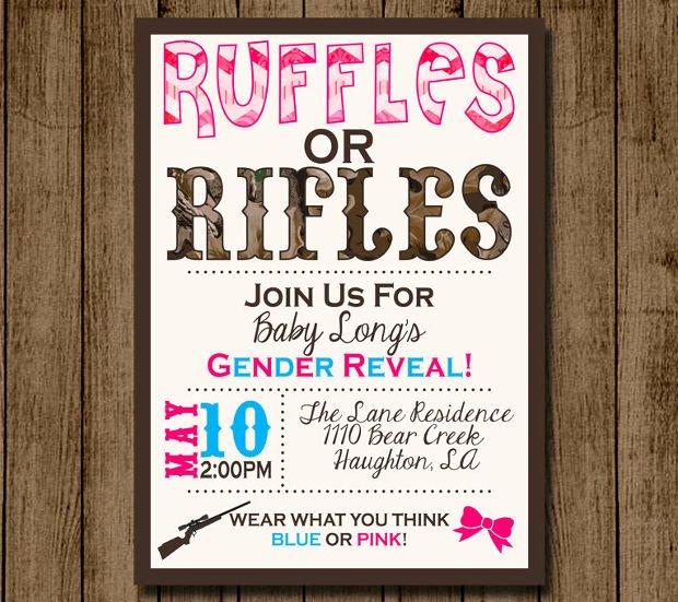 Free Gender Reveal Templates Luxury 15 Gender Reveal Invitations Printable Psd Ai Eps