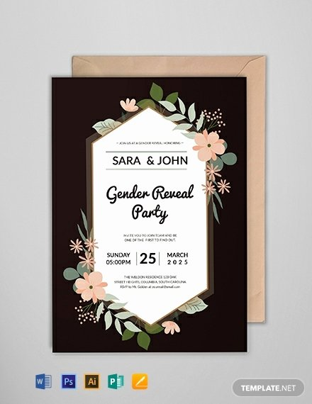 Free Gender Reveal Templates New Free Gender Reveal Party Invitation Template Word Psd Indesign Apple Pages