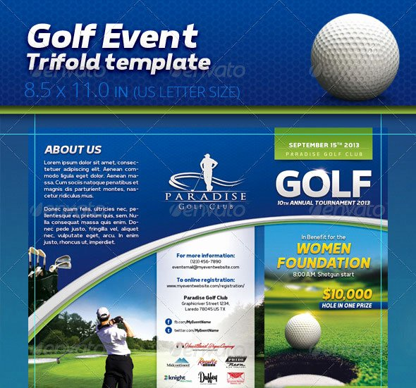 Free Golf Flyer Templates Best Of 30 Best Brochure Templates 2013 Web & Graphic Design