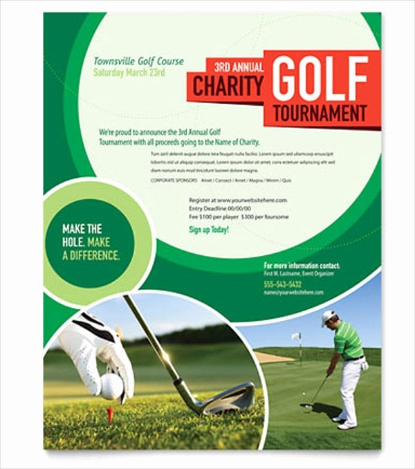 Free Golf Flyer Templates Elegant 28 Golf Flyers Templates Word Psd Ai Eps Vector format