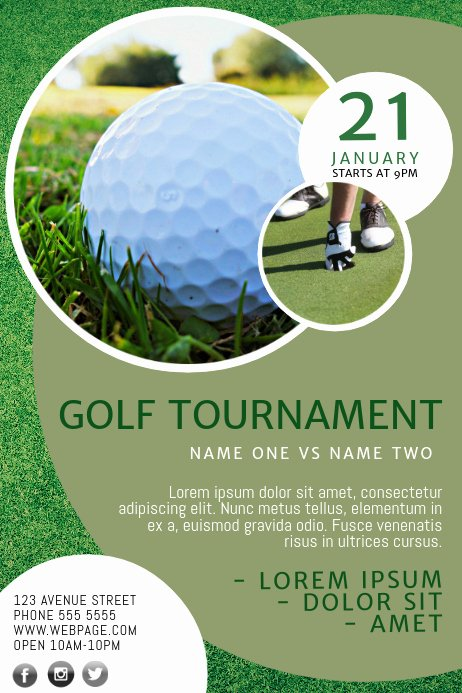 Free Golf Flyer Templates Fresh Golf Flyer Template