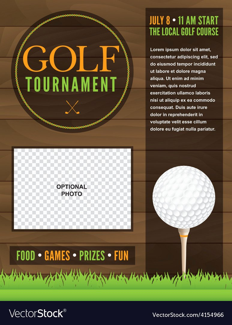 Free Golf Flyer Templates Fresh Golf tournament Flyer Template Royalty Free Vector Image