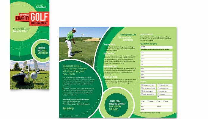 Free Golf Flyer Templates Lovely 5 Free Golf tournament Flyer Templates