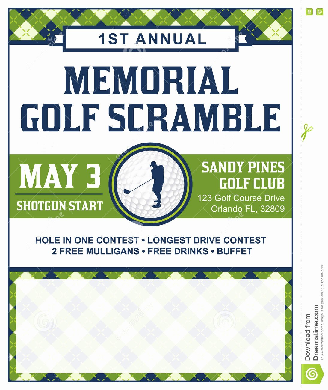 Free Golf Flyer Templates New Golf tournament Flyer Template Stock Vector Illustration Of Golfing Scramble