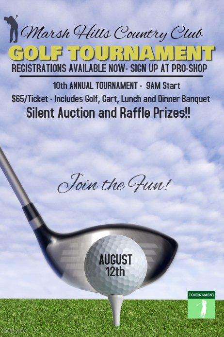 Free Golf Flyer Templates New Golf tournament Poster Template