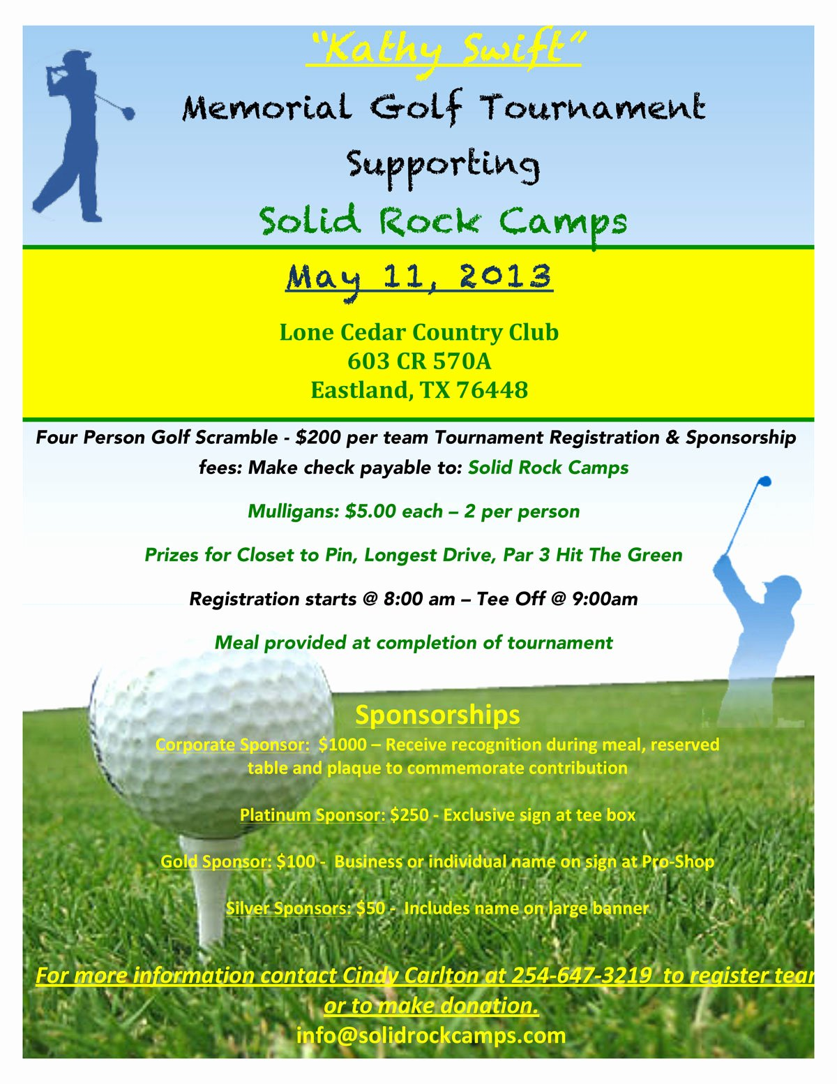 Free Golf Flyer Templates Unique Kathy Swift Memorial Golf tournament May 11 Microplexnews