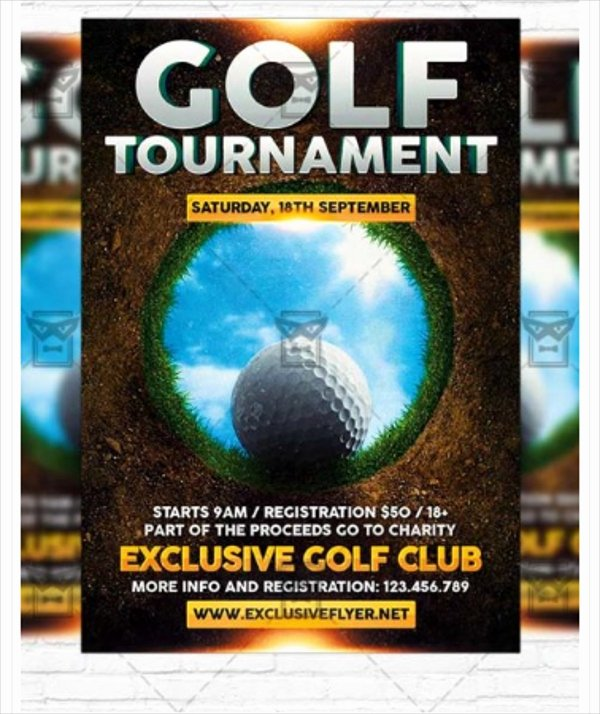Free Golf tournament Flyer Template Fresh 28 Golf Flyers Templates Word Psd Ai Eps Vector format