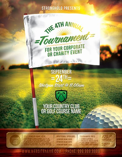 Free Golf tournament Flyer Template Lovely Golf tournament event Flyer Template On Behance