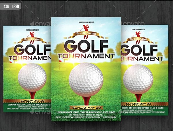 Free Golf tournament Flyer Template New Golf tournament Flyer Template 24 Download In Vector Eps Psd