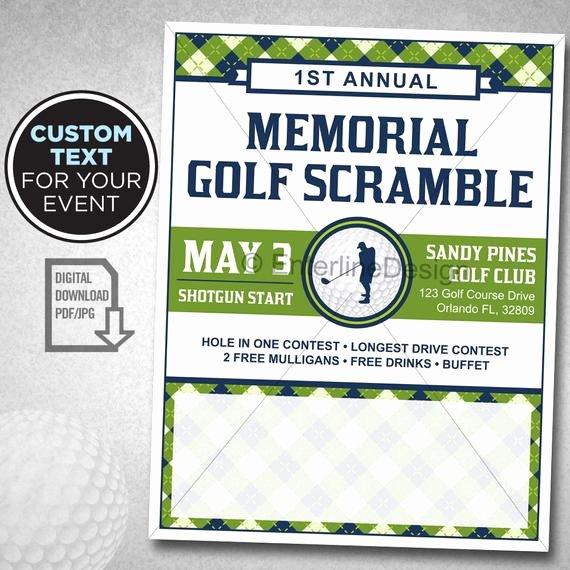 Free Golf tournament Flyer Template Unique Golf tournament Flyer Poster Template Invitation Custom