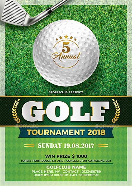 Free Golf tournament Flyer Template Unique Golf tournament Flyer Template Flyer for Sport events