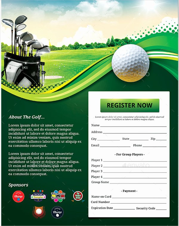 Free Golf tournament Flyers Templates Beautiful Flyer Template Idea