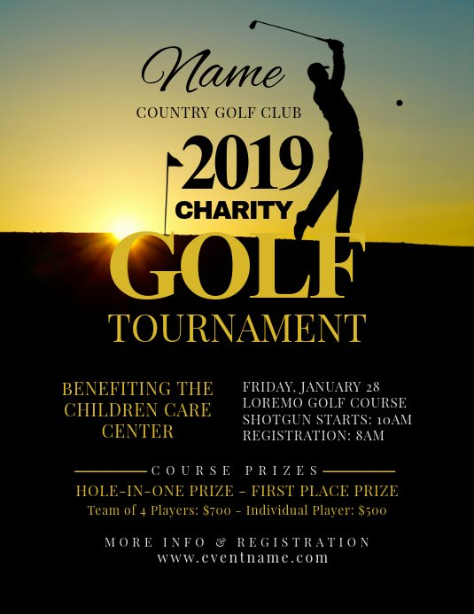 Free Golf tournament Flyers Templates Inspirational Golf tournament Flyer Template