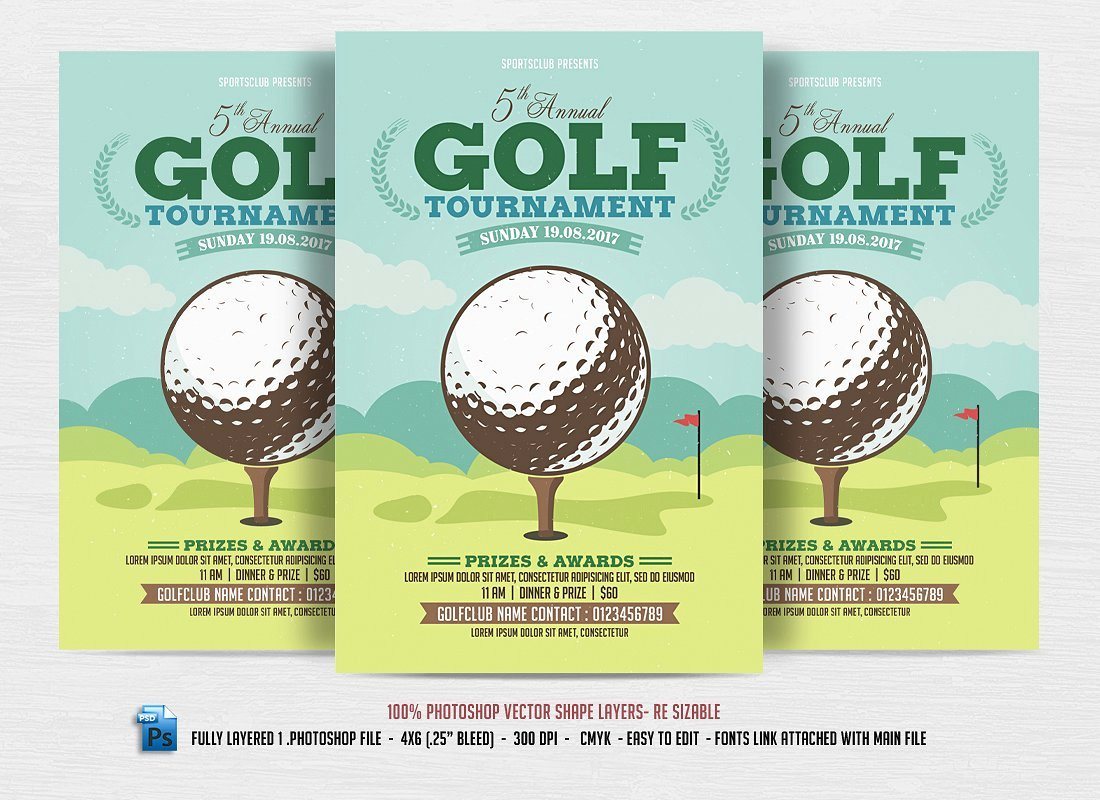 Free Golf tournament Flyers Templates Lovely 24 Sports event Flyers Templates Word Ai Psd Apple Pages