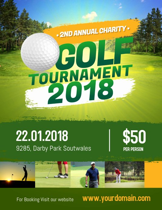 Free Golf tournament Flyers Templates Lovely Charity Golf tournament Flyer Poster Template