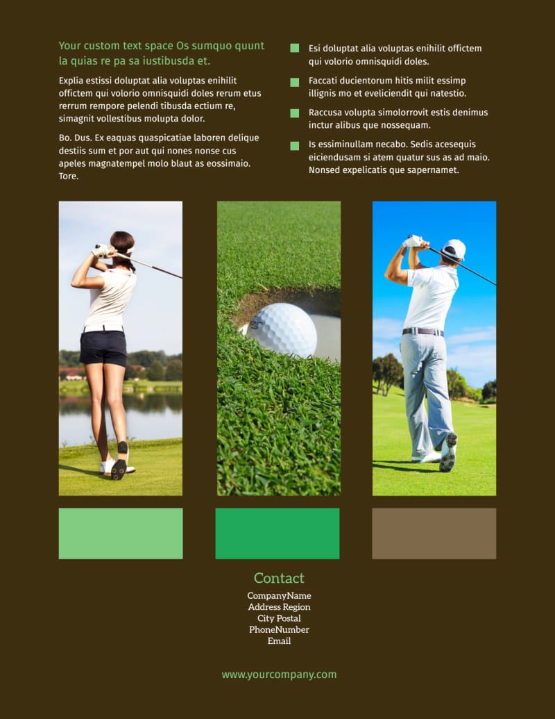 Free Golf tournament Flyers Templates Luxury Golf tournament Flyer Template
