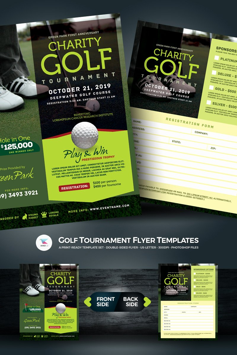 Free Golf tournament Flyers Templates New Golf tournament Flyer Psd Template