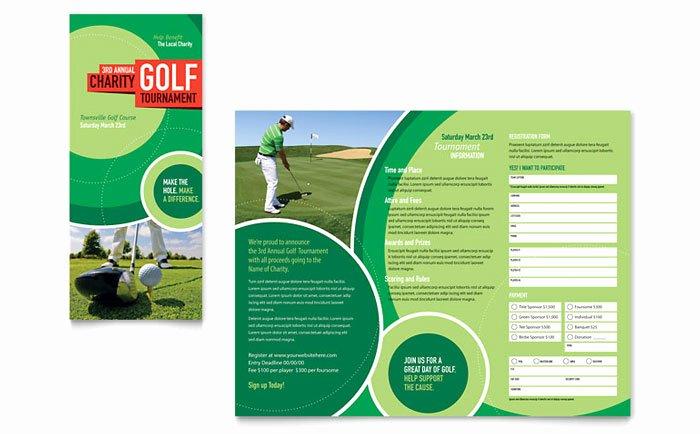 Free Golf tournament Flyers Templates New Golf tournament Tri Fold Brochure Template Design
