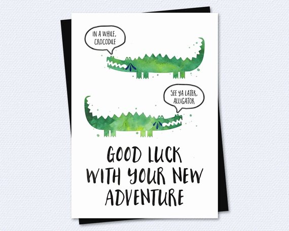 Free Good Luck Cards Beautiful Farewell Card Goodbye Card Good Luck with by Riverraindesigns