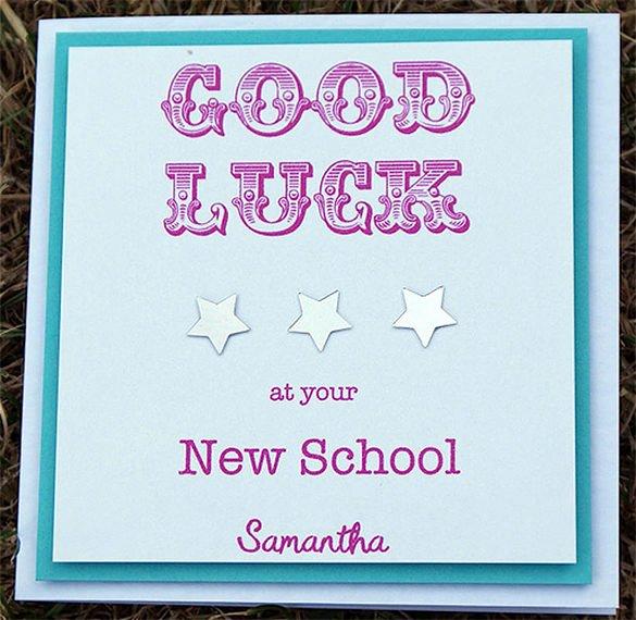 good luck card template