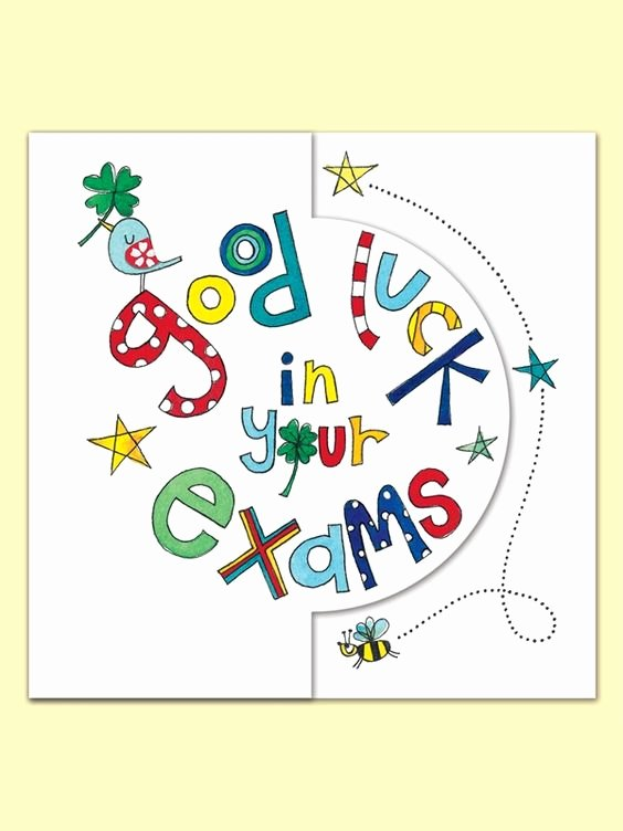 Free Good Luck Cards Elegant Good Luck In Your Exam Greeting Card by Rachel Ellen Good Luck Pinterest