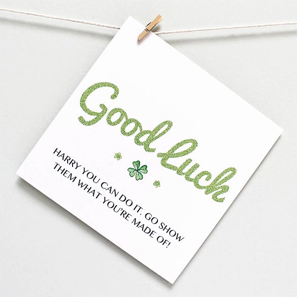 Free Good Luck Cards Inspirational 7 Good Luck Card Templates Psd Eps
