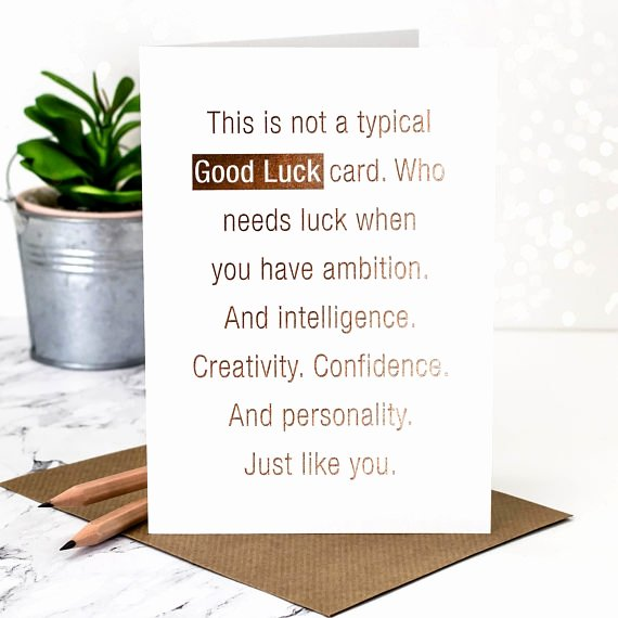 Free Good Luck Cards Luxury 17 Printable Good Luck Card Designs & Templates Psd Ai Indesign