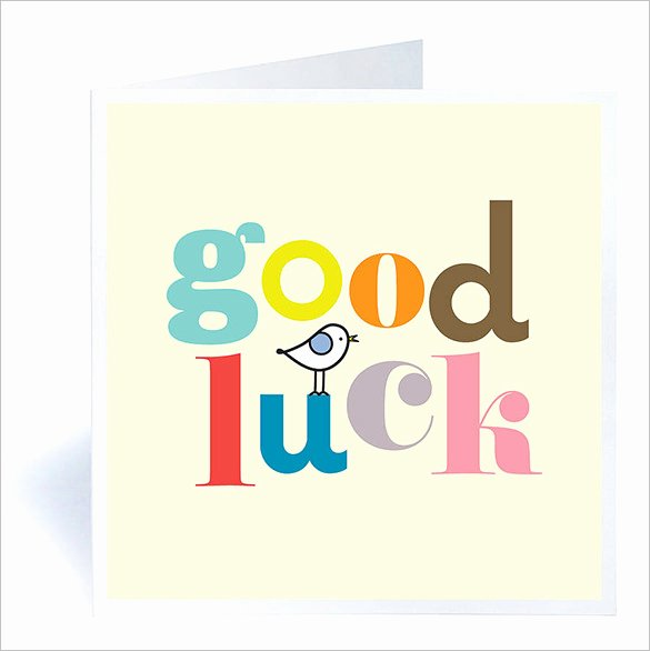 Free Good Luck Cards New 7 Good Luck Card Templates Psd Eps