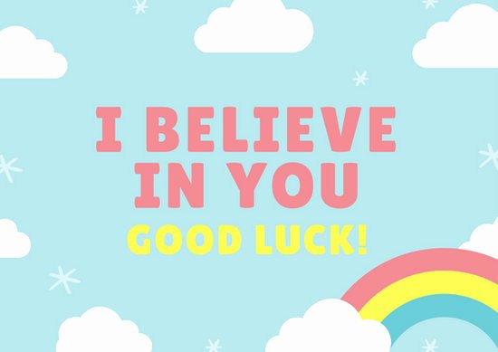 Free Good Luck Cards New Good Luck Card Templates Canva