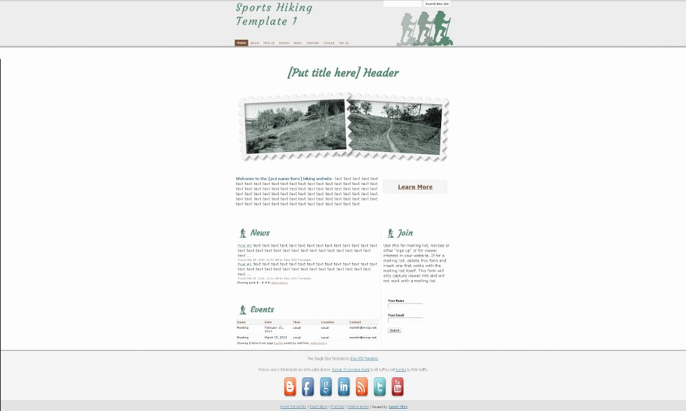 Free Google Sites Template Fresh Sports Sites sos Google Sites Templates by Weby