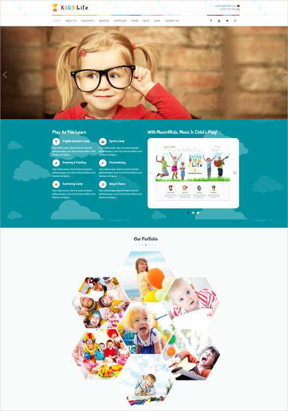 Free Google Sites Template New 27 Google Website themes & Templates