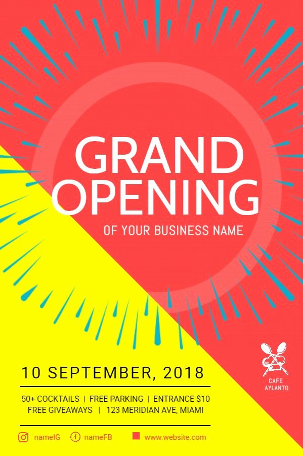 Free Grand Opening Flyer Template Best Of Business Grand Opening Flyer Poster Template Bright Grand Opening Flyer Templates