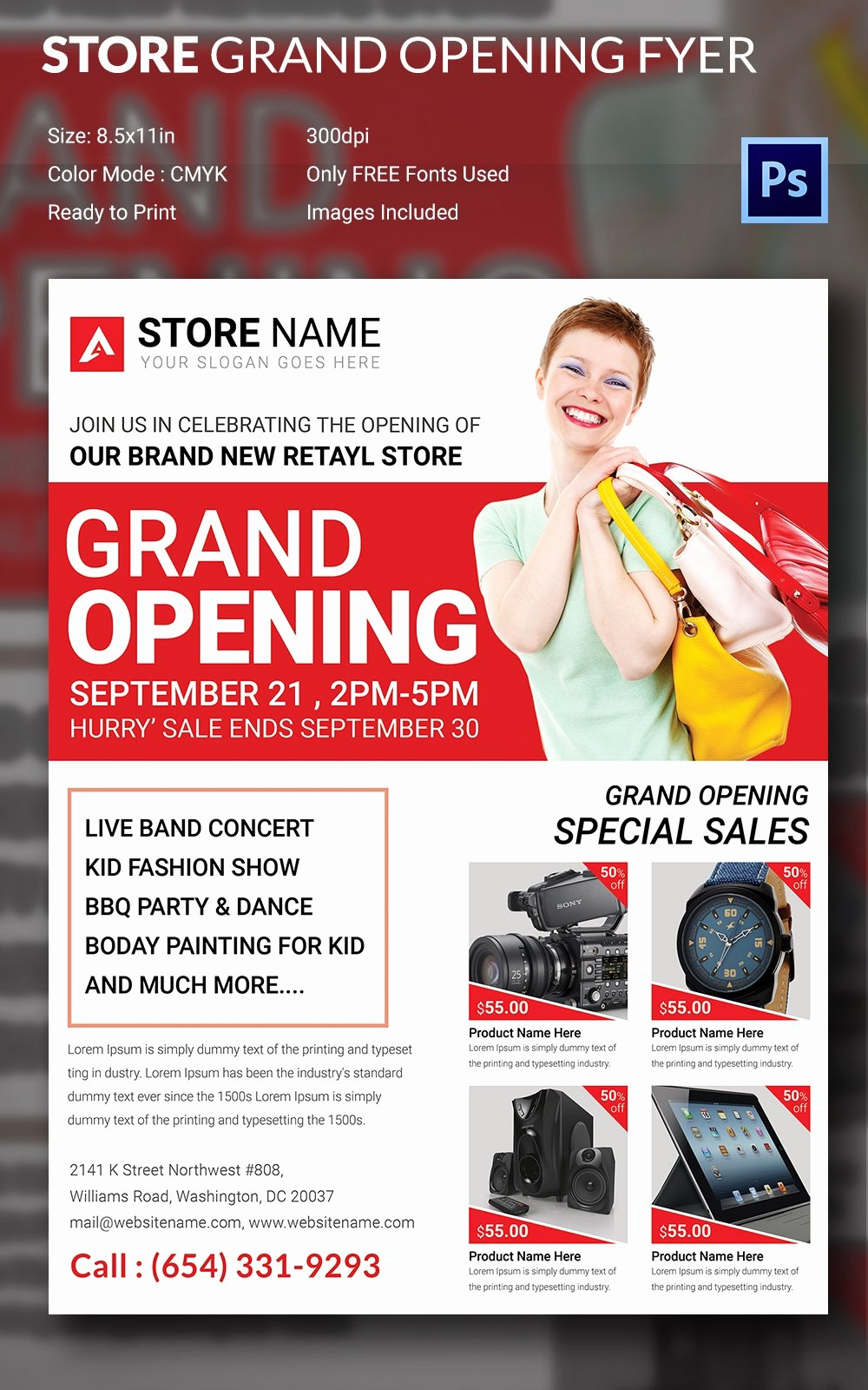 Free Grand Opening Flyer Template Inspirational Grand Opening Flyer Template 34 Free Psd Ai Vector Eps format Download