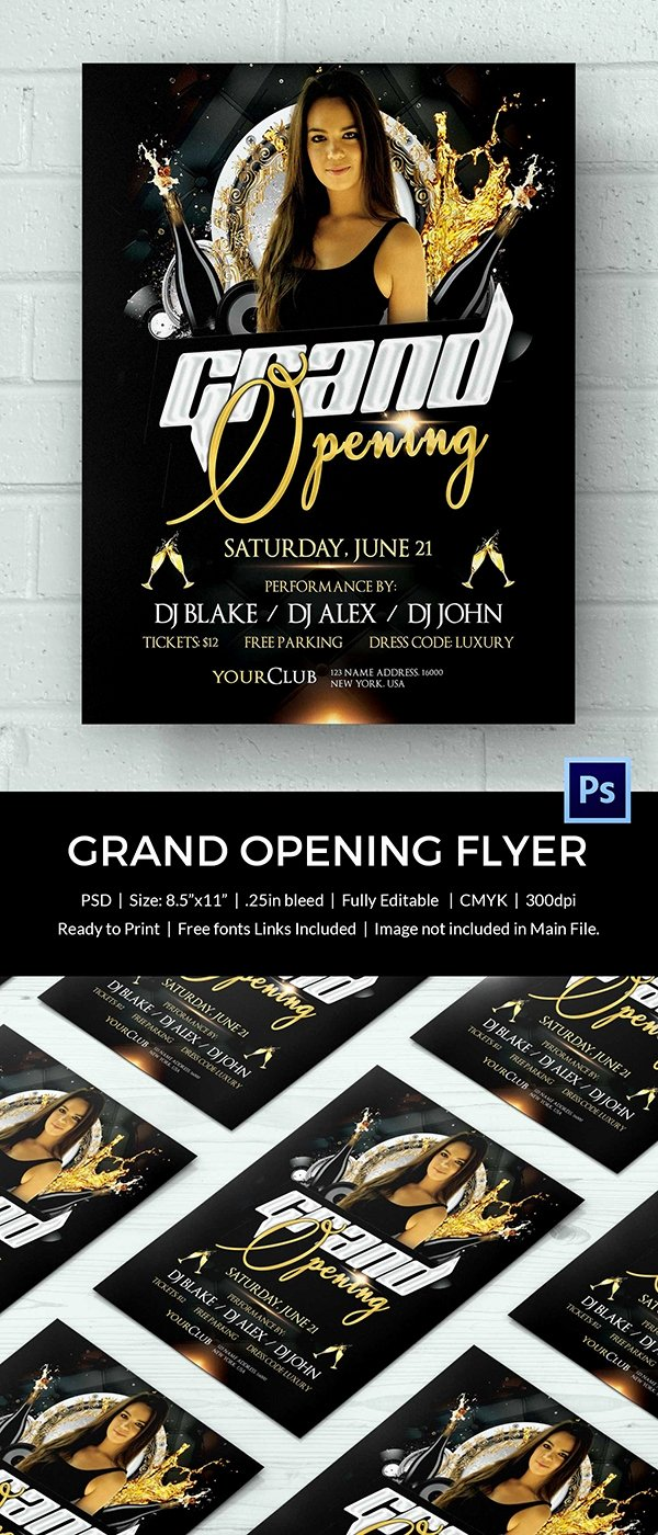 Free Grand Opening Flyer Template Luxury Grand Opening Flyer Template 34 Free Psd Ai Vector Eps format Download