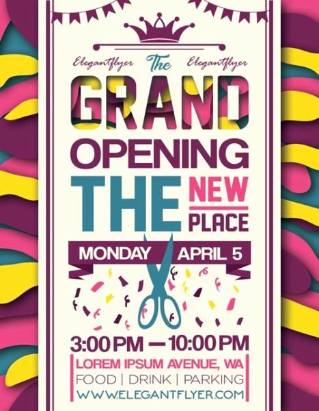 Free Grand Opening Flyer Template Luxury Grand Opening Party event Free Flyer Template Download Free Flyer