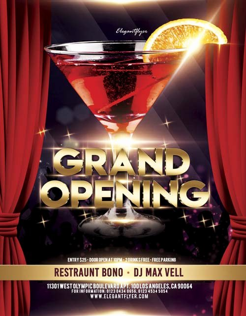 Free Grand Opening Flyer Template Unique Grand Opening Free Flyer Template for Elegant and Classy Club events