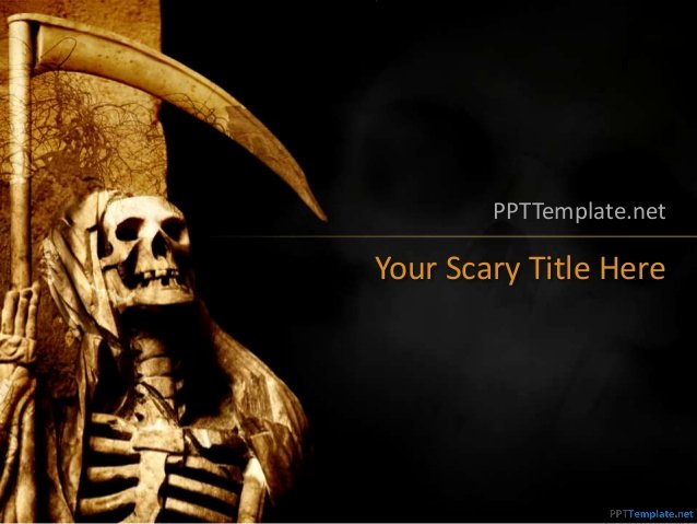 Free Halloween Powerpoint Templates Awesome 0054 Skull Halloween Ppt Template
