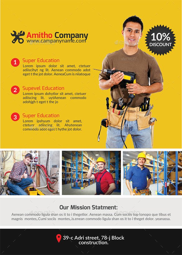 Free Handyman Flyer Templates Awesome 18 Best Handyman Flyer Templates & Designs Word Psd