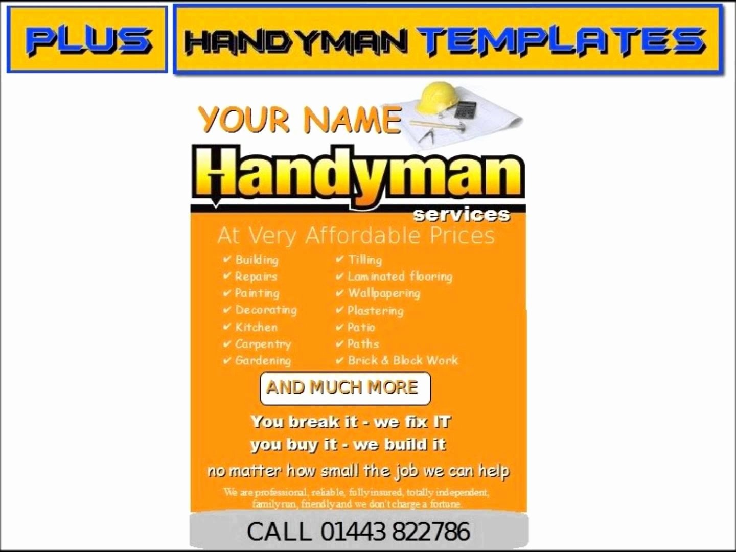 Free Handyman Flyer Templates Awesome Handyman Business Cards Samples Handyman Business Cards Samples