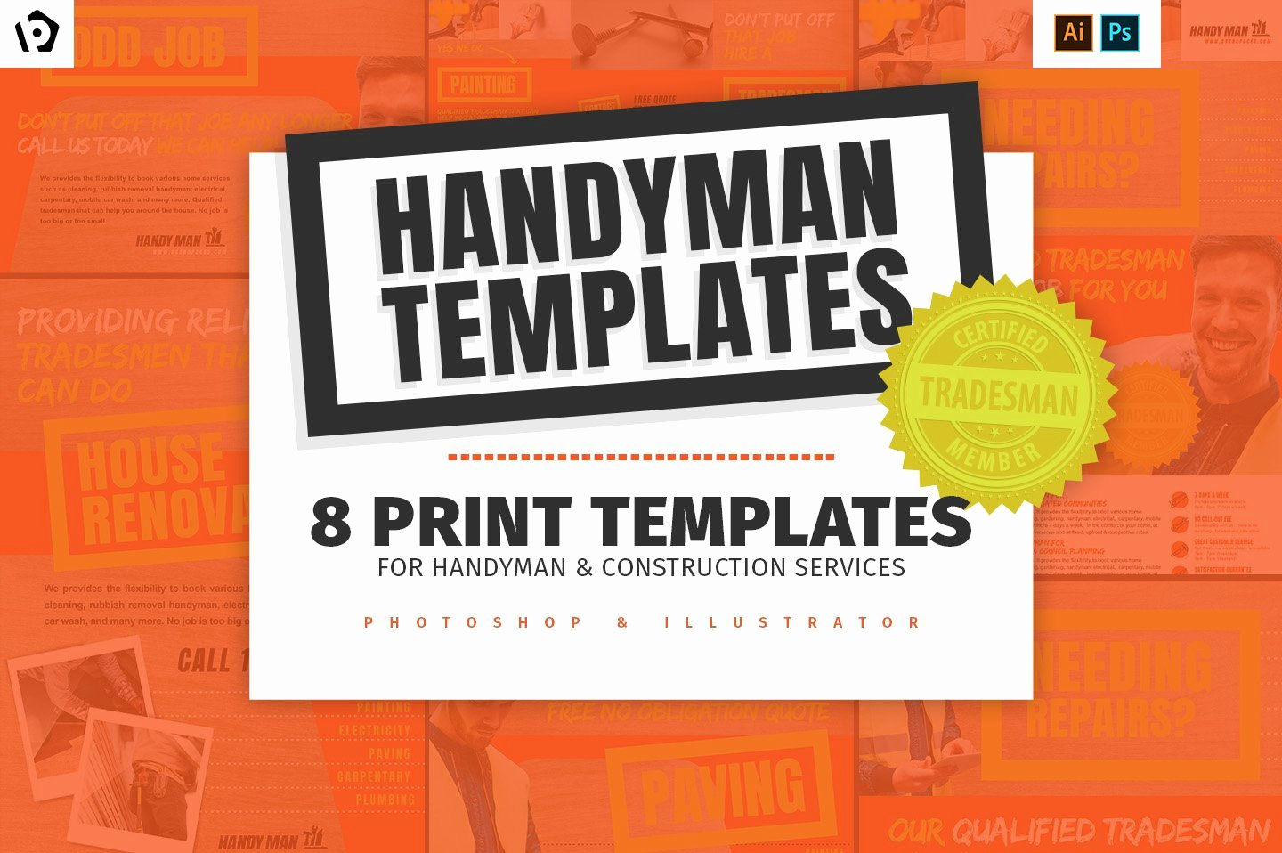 Free Handyman Flyer Templates Fresh Handyman Templates Pack V2 Flyer Templates Creative Market