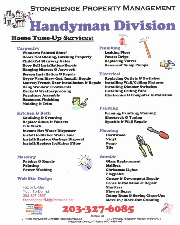 Free Handyman Flyer Templates Luxury 45 Best Images About Graphic Design Handyman On Pinterest